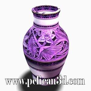 3d pelican vase