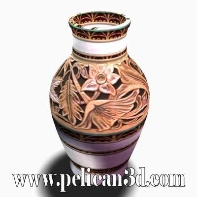 3d model pelican vase