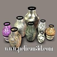 3d pelican stoneware vase model