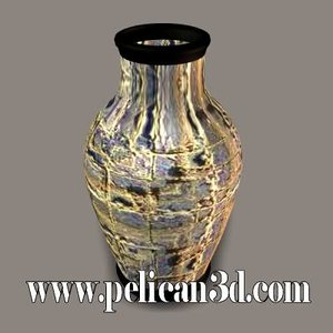 pelican stoneware vase 3d model
