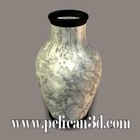 obj pelican stoneware vase