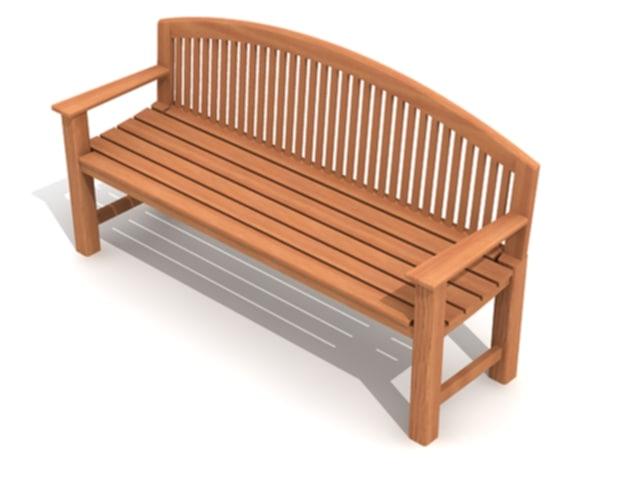 3d outdoor bench model