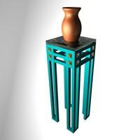 Pedestal&Vase