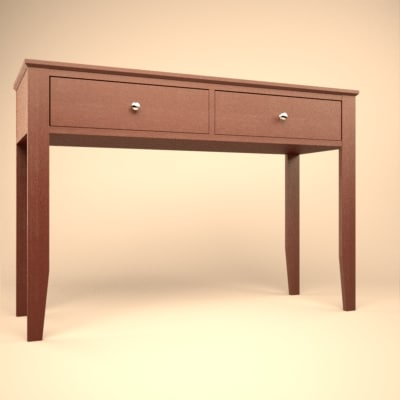3d console table metropolitan model