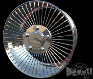 fwd wheels designs spoke 3d model