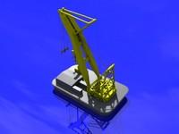 asian hercules cranes 3d model