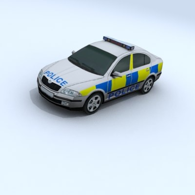 skoda octavia cop vehicle car 3d 3ds