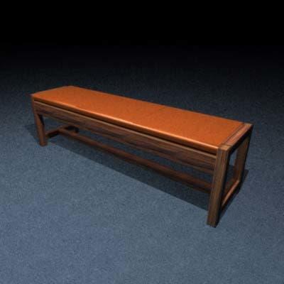 3d bench waiting room model