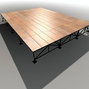 stage realtime 3d model
