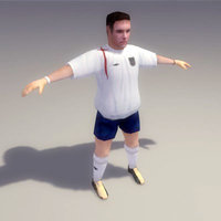3ds max soccer player england