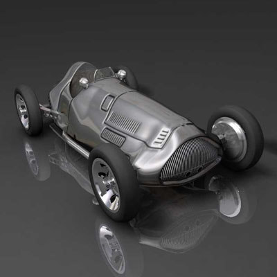 max silver arrow racing car