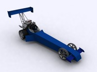 3ds max dragster car