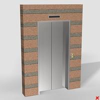 3ds max elevator door
