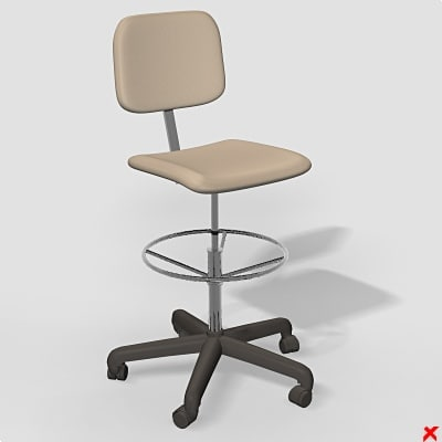 3d model swivel chair office