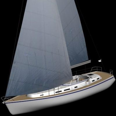 hallberg rassy 3d model