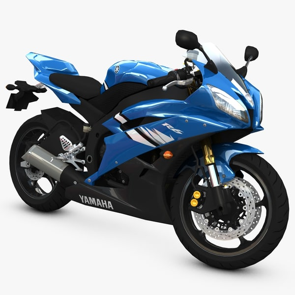 yamaha bike r6 3d model