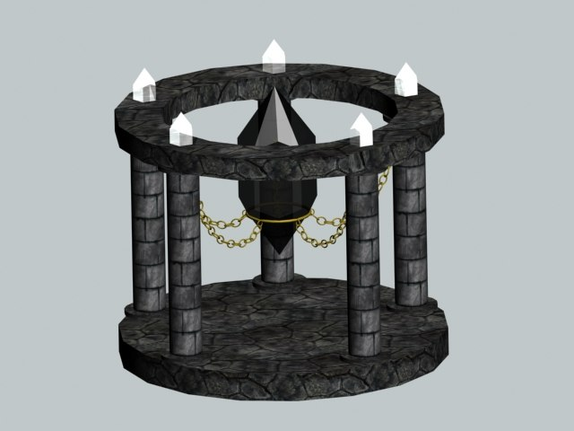 free temple 3d model