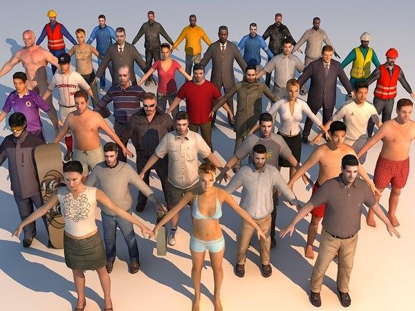 human urban 3d model