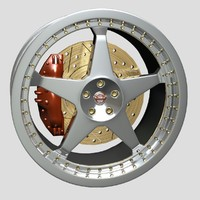 wheel disk nissan 3d 3ds