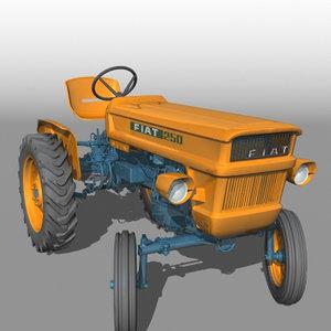 3d model fiat 250 tractor
