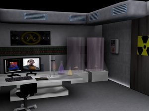 3d model laboratory half life