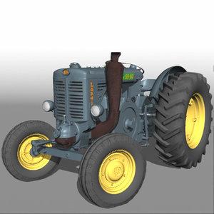 landini 55 tractor 3d model