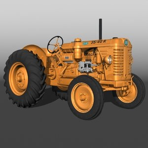 3d model om 35 40 tractor