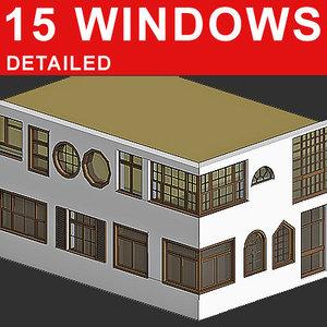 15 windows 3d model