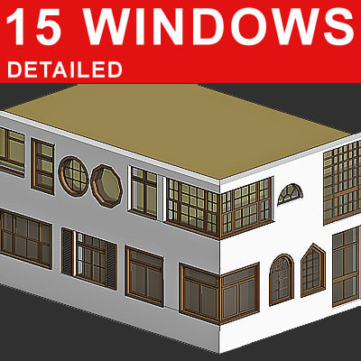 15 windows 3d model