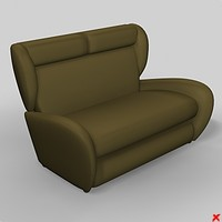 3ds max sofa loveseat