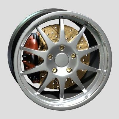 maya wheel disk aez
