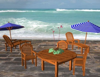 3d model patio furniture chair