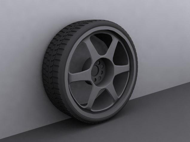 5zigen pro racer rim 3d model