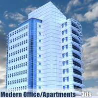 modern apartment office building 3d model