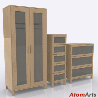 bedroom storage furniture 3d max