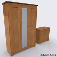 3dsmax bedroom storage furniture wood