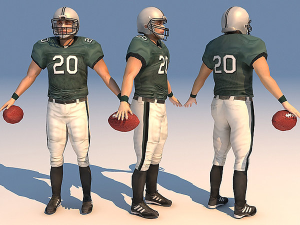 sport 11 football player 3d model
