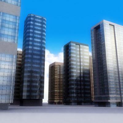 tall building skyscrapers 3d max