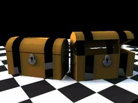 3d model pirate treasure chest