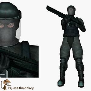 ready assault trooper 3d model