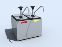 napkin dispenser condiment 3d model