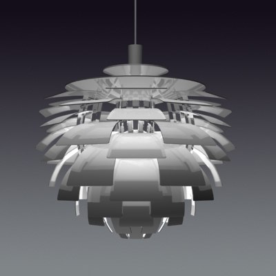artichoke pendant 3d model