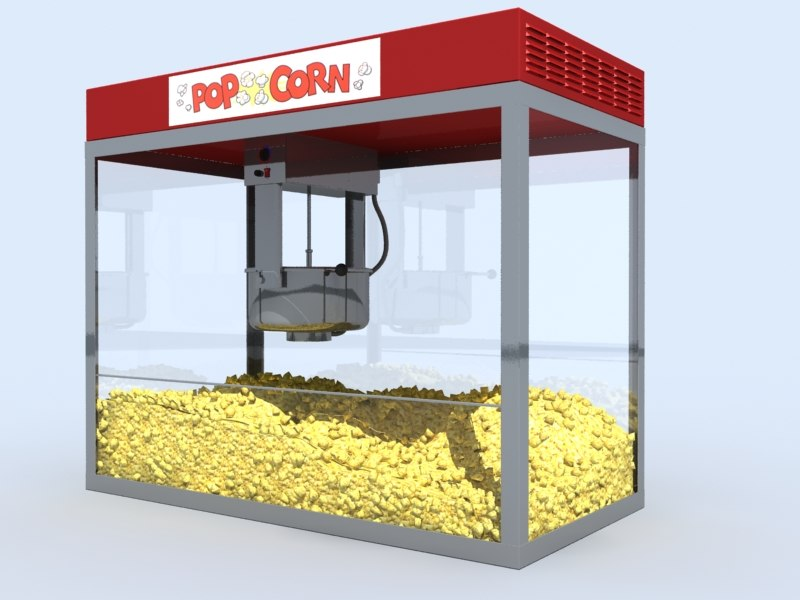 Pop corn 3d model