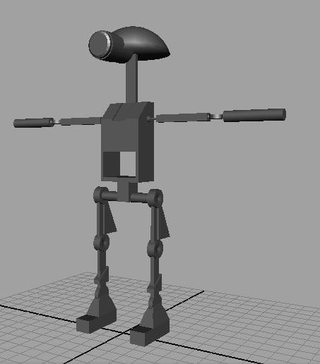 3d mechanic robot model
