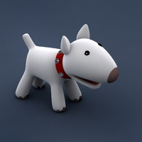 doggy dog cartoon 3d model