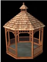 3d model of cedar gazebo