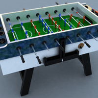3d 3ds garlando football table foosball