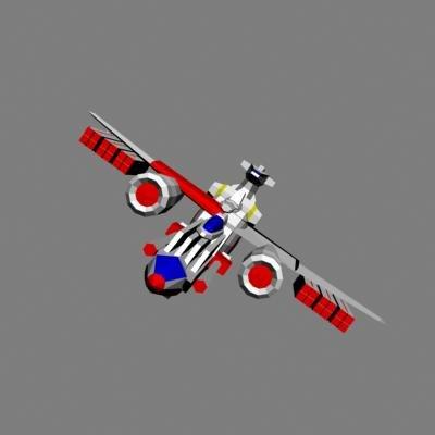 3d space battle ship model