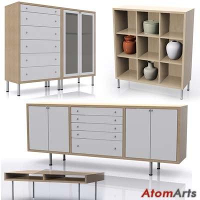ikea magiker furniture cabinets 3d model