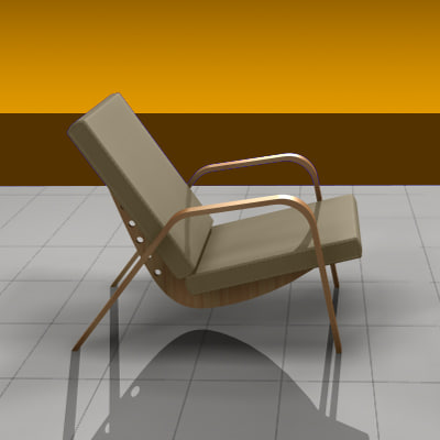3ds max chair living room